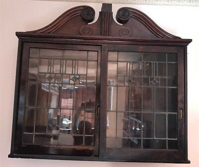 Antique Showcase Slide Door Display Cabinet