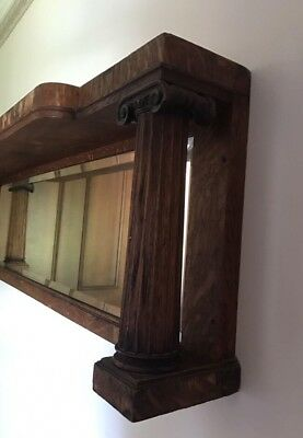 Antique Original Solid Overmantle Mirror