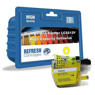 Refresh Cartridges Amarillo LC3213Y Tinta Compatible con Brother Impresoras