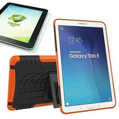 Hybrid Outdoor Cover Orange for Samsung Galaxy Tab E 9.6 T560 + 0.4