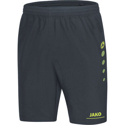 Jako Short Striker Kinder anthrazit/lime Shorts Sporthose Hose Freizeithose