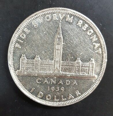 1939 Canada Silver Dollar aUNC (Hairline Scratches in Coin)....