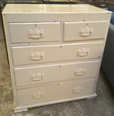 victorian/edwardian painted chest of drawers
