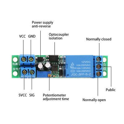 Safe DC12V Adjustable Signal Trigger Turn Off Delay Timer Switch Relay Module oe