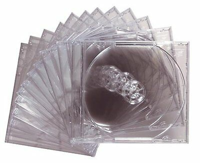 Maxell CD DVD Standard Jewel Cases Clear Plastic Disk Storage Case 12 Pack