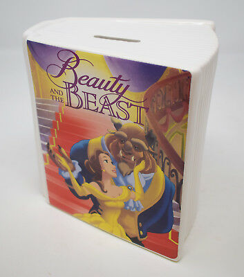 Disney Classic Beauty and The Beast Ceramic Book Shaped Money Bank Box Savings