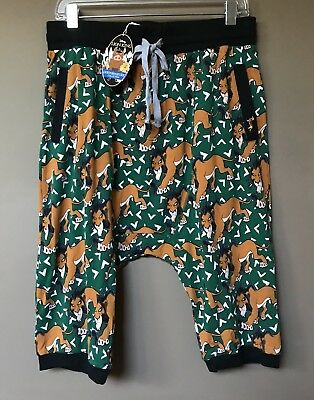 Peter Alexander Mens The Lion King Drop Crotch Shorts Size Medium RRP$69.95
