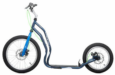 Scooter Tretroller Yedoo Mezeq Disc New 20 / 16 Zoll  grau/blau Dogscooter
