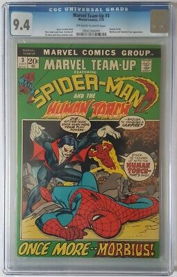 Marvel Team-Up #3 3rd App Of Morbius CGC 9.4 Spider-Man Human Torch Marvel Comic