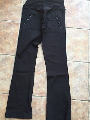 Black H & M Mama Maternity Pregnancy Ladies Clothes Trousers size 12