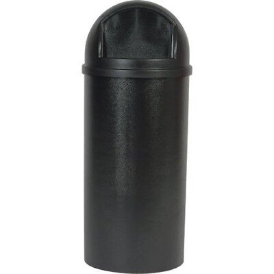 Rubbermaid Commercial Round Marshal Bin Fire Proof Classic Trash Can Black 79.5L