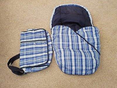 Silver cross footmuff and matching changing bag