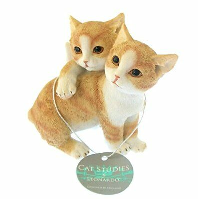 Leonardo Let's Play Adorable Ginger White Cats Playful Kitten Cat Lovers Gift