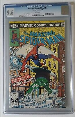The Amazing Spider-Man  #212 Origin & 1st App Of Hydro-Man CGC 9.6 W/P Marvel