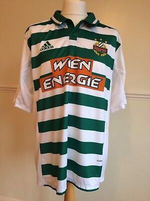 Sk Rapid Wien Green & White Short Sleeve Away Shirt Season 2014 - 2015 Size 2Xl