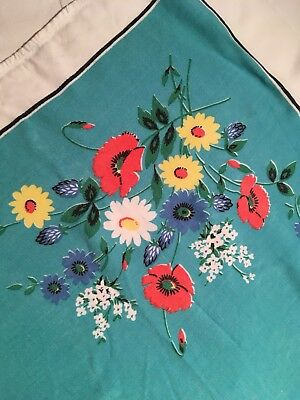Vintage 50s Style Table Cloth floral