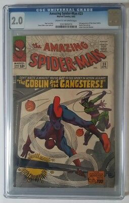 The Amazing Spider-Man #23 3rd App Of The Green Goblin CGC 2.0