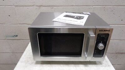 Solwave Stainless Steel Commercial Microwave with Dial Control 120V, 1000W