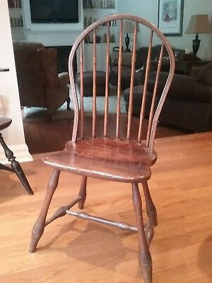 early 18th century hoop back windsor chair