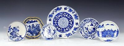 Nice Lot Antique Chinese Blue White Porcelain Dishes Plates Kangxi Etc