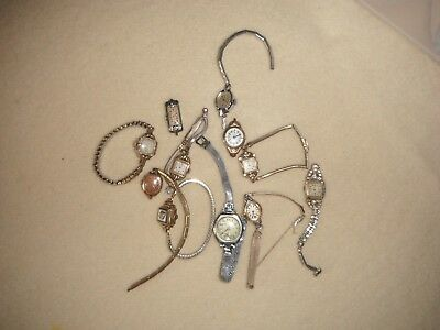 Lot Of 11 Antique Vintage Ladies Wrist Watches