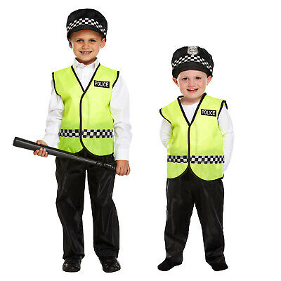 Policeman Police Officer Dressing Up Costume Kids Fancy Dress Toddlers Age 3-12