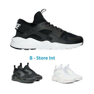 Nike Air Huarache Run Ultra Triple Total Black White Nere Bianche Uomo Donna