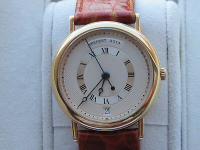 Breguet Automatic Wristwatch 18K Gold  Centre Seconds And Date