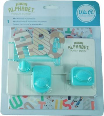 We R Memory Keepers mini Alphabet Punch Board 663004