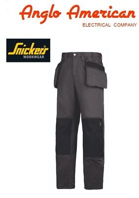 Authentic Snickers 3251 Core Craftsman Grey Work Trousers - Authorised Dealer