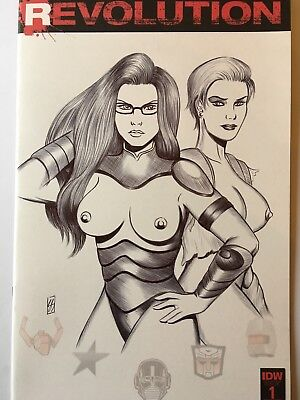 Sexy Baroness & Zarana Gi Joe - Revolution #1 Original Art Variant Sketch Cover