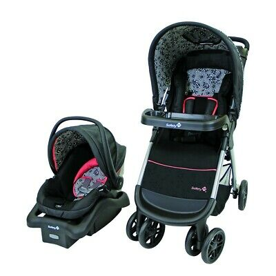 Safety 1st Amble Quad Travel System with OnBoard 22 Infant Car Seat Gentle Lace