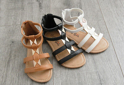 Girls, Toddler Zipper and Buckle Sandals size 5-10