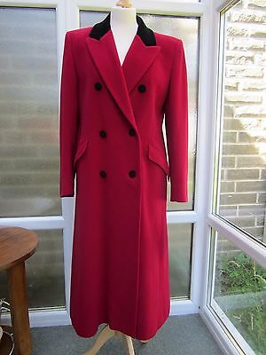 Vintage Aquascutum Double Breasted Coat with velvet collar