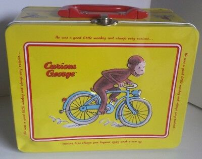 Vintage Curious George Collectible Tin Keepsake Lunch Box
