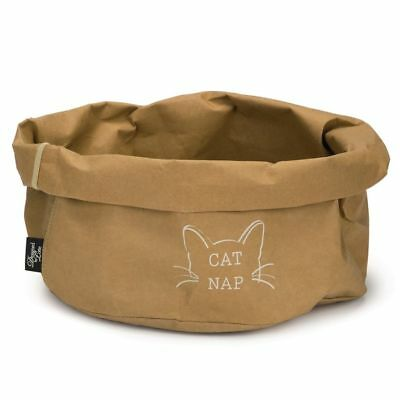 Designed by Lotte Cuccia Lettino Cesta Gatti Gatto Cat Nap Carta 40 cm Marrone☺