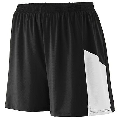 (Large, Black/White) - Augusta Sportswear BOYS' SPRINT SHORT. Shipping Included