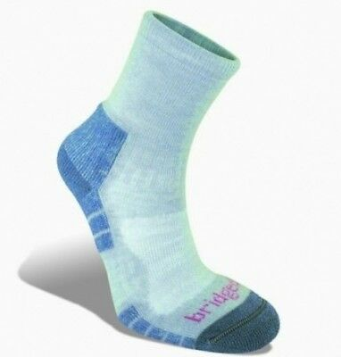(7-8.5, Grey/Smoky Blue) - Bridgedale Woolfusion Trail Light Women's Sock