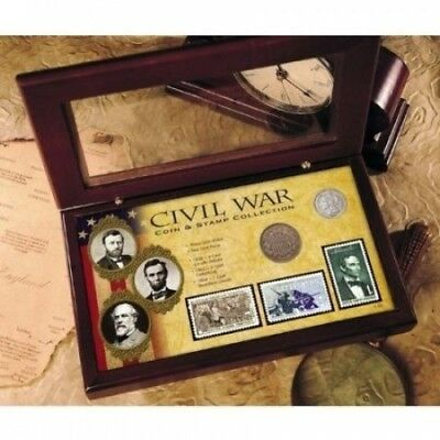 American Coin Treasures Civil War Coin and Stamp Collection with Certificate