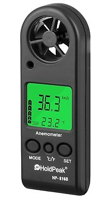 (Mini Sized Anemometer) - Holdpeak 866B-APP Digital Anemometer with Mobile APP