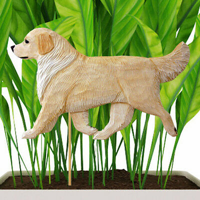Golden Retriever Planter Pick Stake Cream