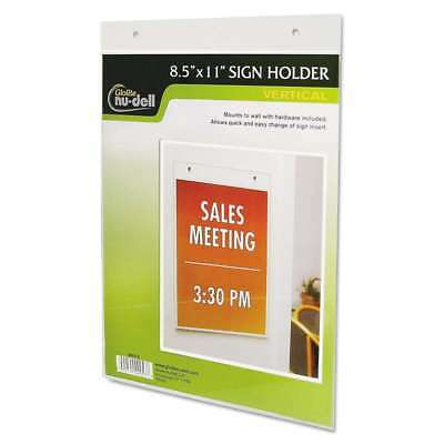 NuDell Clear Plastic Sign Holder, Wall Mount, 8 1/2 x 11 042122000537