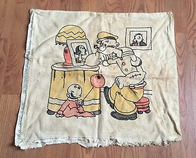 Popeye The Sailor 1933 King Features Syndicate Inc Made By Vogart Pillow Case