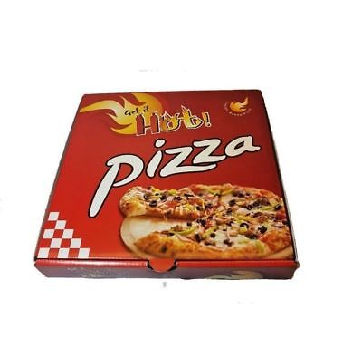 100 x 10 inch Plain printed Pizza Boxes,Takeaway Pizza Box, Postal Boxes strong