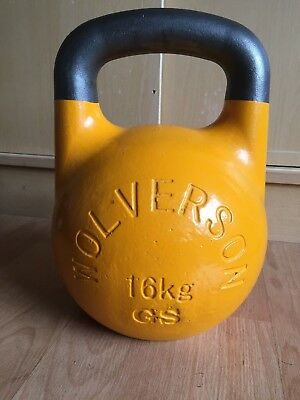 WOLVERSON COMPETITION RUSSIAN KETTLEBELL 16KG Yellow