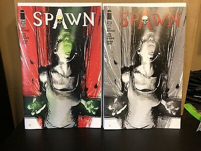 Spawn #282 Color & B&W Cover Variant Set 1st Appearance Of Black Mirror