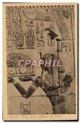 CPA Egypt Egypte Abydos King offering to Gods