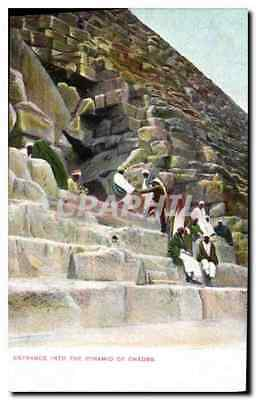 CPA Egypt Egypte Entrance into Pyramid of Cheops