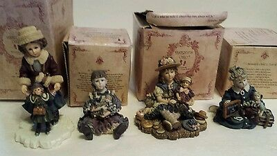 4 Yesterday's Child Creations Dollstone Collection A Child's Heart  Boyds 1995