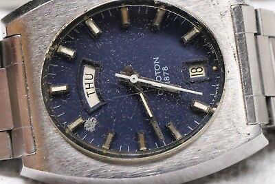 vintage croton automatic 1878 swiss axue f576 17 jewel men's watch day date